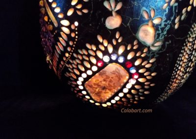 LAMPS OF HAND WORK from the African pumpkin