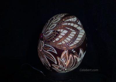 Design lamp from the African pumpkin