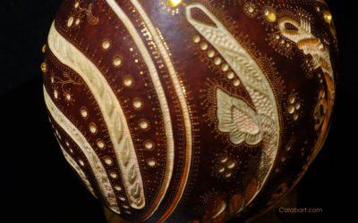 Принципы формирования плода декоративной тыквы.